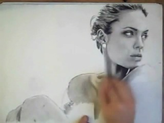 Speed Charcoal Drawing - Angelina Jolie